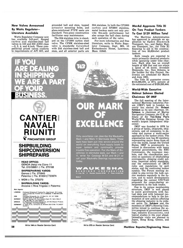 Maritime Reporter Magazine, page 26,  Nov 15, 1980
