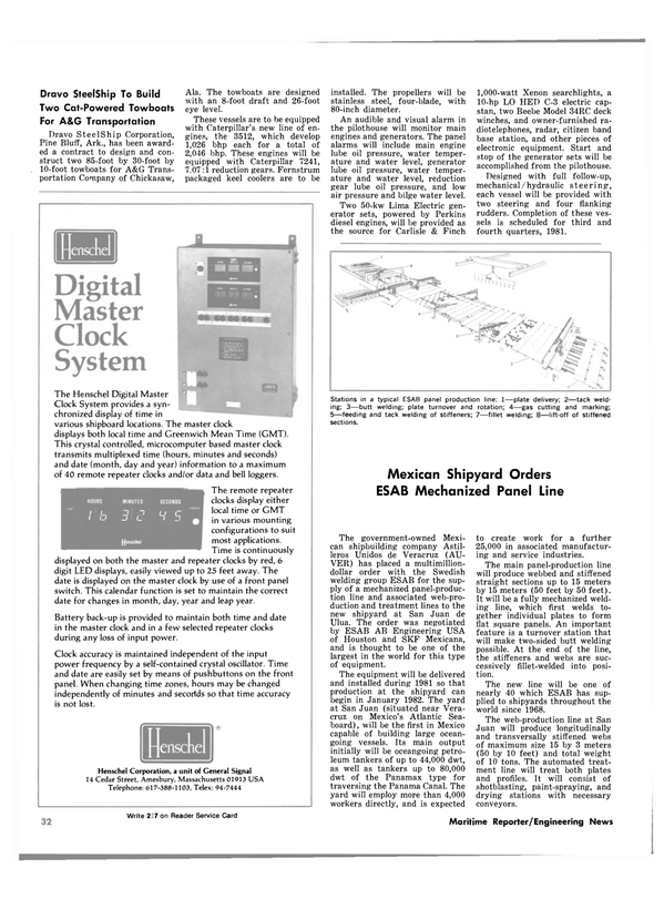 Maritime Reporter Magazine, page 30,  Nov 15, 1980