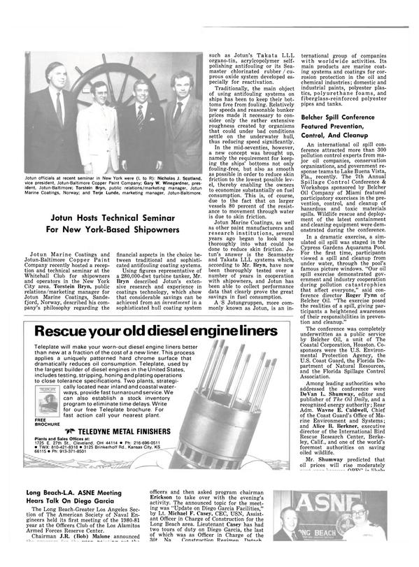Maritime Reporter Magazine, page 38,  Nov 15, 1980