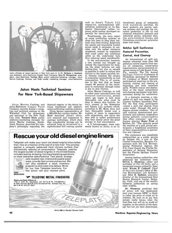 Maritime Reporter Magazine, page 40,  Nov 15, 1980 The Oil Daily