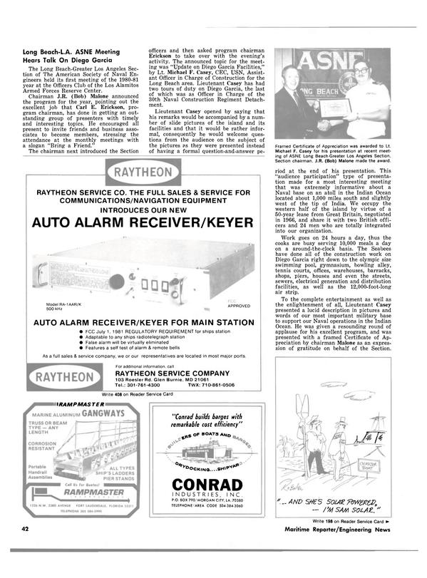 Maritime Reporter Magazine, page 42,  Nov 15, 1980