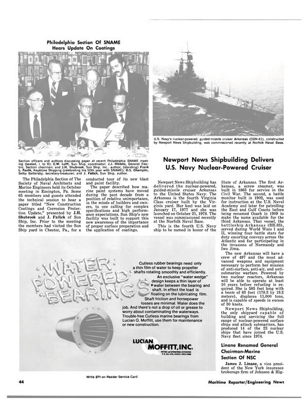 Maritime Reporter Magazine, page 44,  Nov 15, 1980