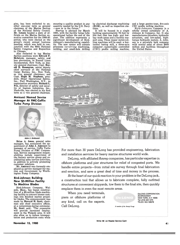 Maritime Reporter Magazine, page 45,  Nov 15, 1980