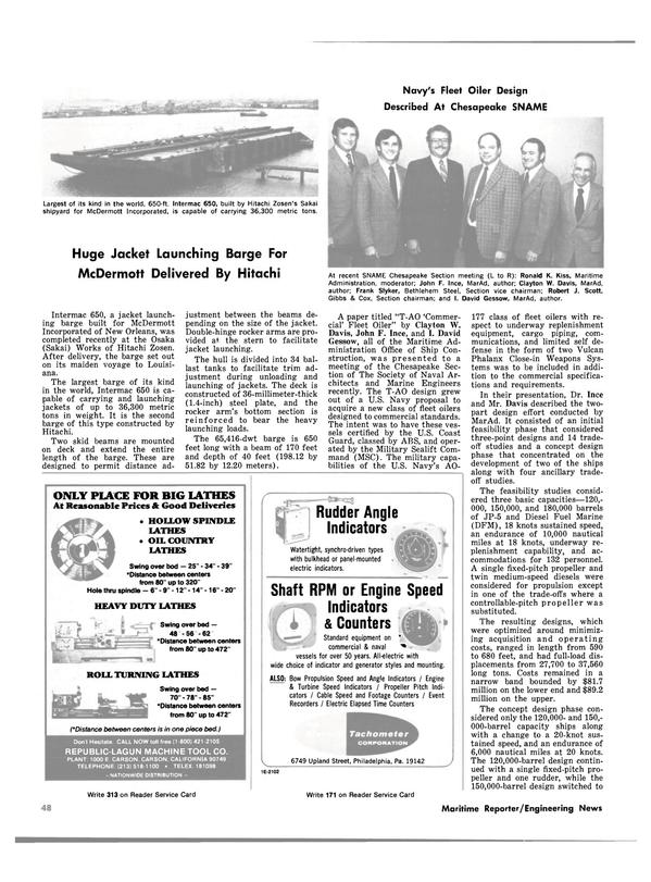Maritime Reporter Magazine, page 48,  Nov 15, 1980 Cox