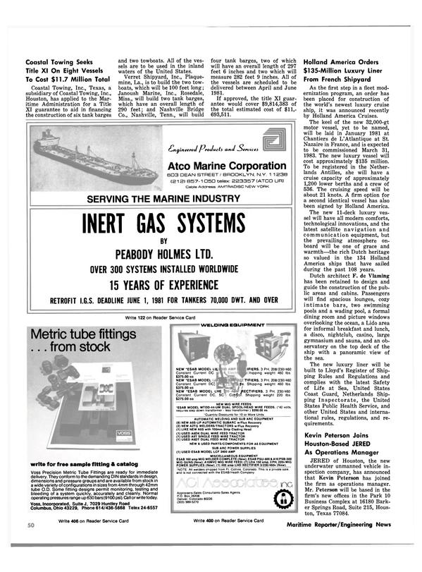 Maritime Reporter Magazine, page 50,  Nov 15, 1980