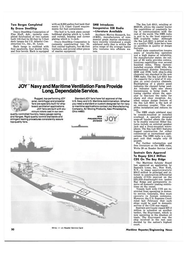 Maritime Reporter Magazine, page 24,  Dec 15, 1980