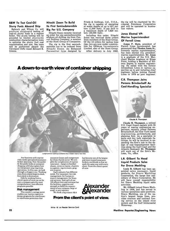 Maritime Reporter Magazine, page 26,  Dec 15, 1980