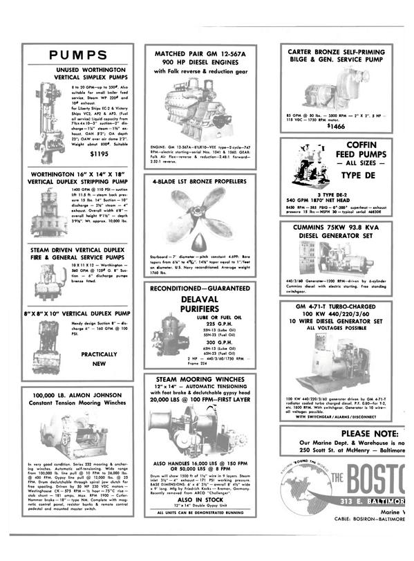 Maritime Reporter Magazine, page 28,  Dec 15, 1980 75KW 93.8 KVA DIESEL GENERATOR SET