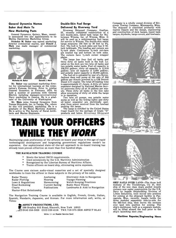 Maritime Reporter Magazine, page 32,  Dec 15, 1980