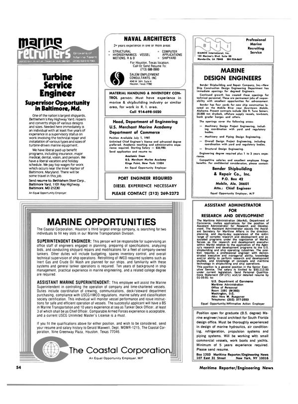Maritime Reporter Magazine, page 50,  Dec 15, 1980