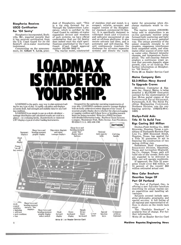 Maritime Reporter Magazine, page 4,  Dec 15, 1980 Maryland