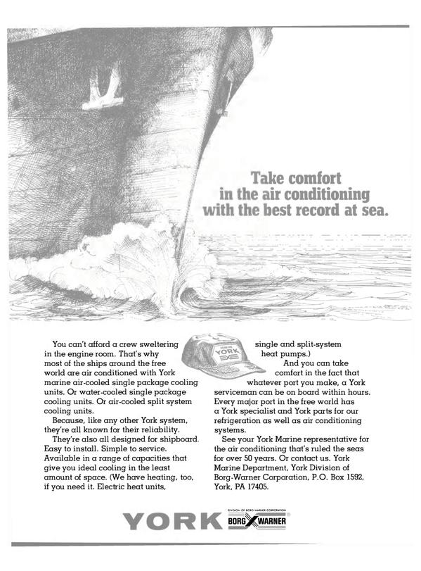 Maritime Reporter Magazine, page 10,  Jan 1981 York Marine Department