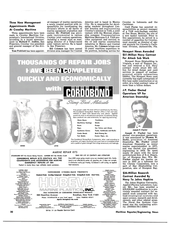 Maritime Reporter Magazine, page 30,  Jan 1981 Caribbean