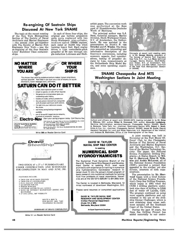 Maritime Reporter Magazine, page 48,  Jan 1981 Arkansas