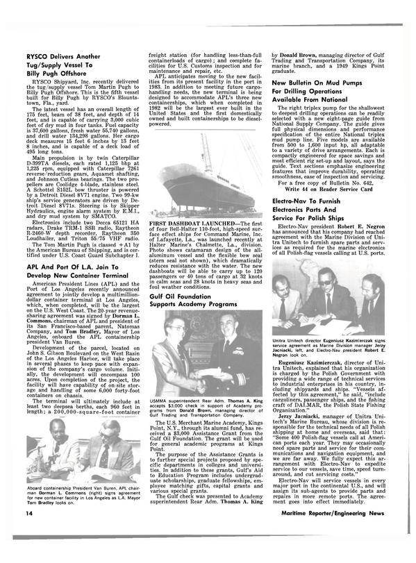 Maritime Reporter Magazine, page 12,  Jan 15, 1981