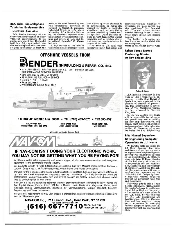 Maritime Reporter Magazine, page 14,  Jan 15, 1981