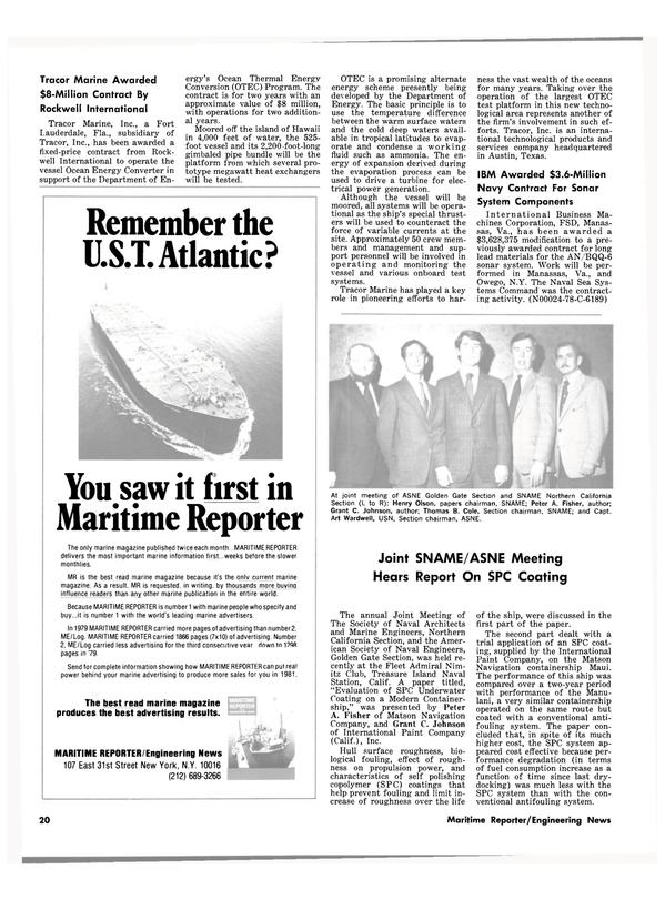 Maritime Reporter Magazine, page 18,  Jan 15, 1981