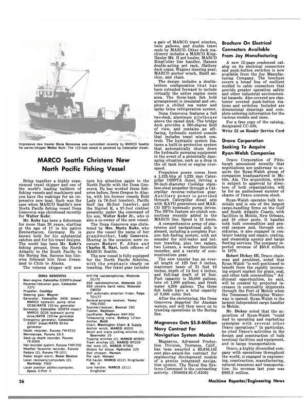 Maritime Reporter Magazine, page 24,  Jan 15, 1981
