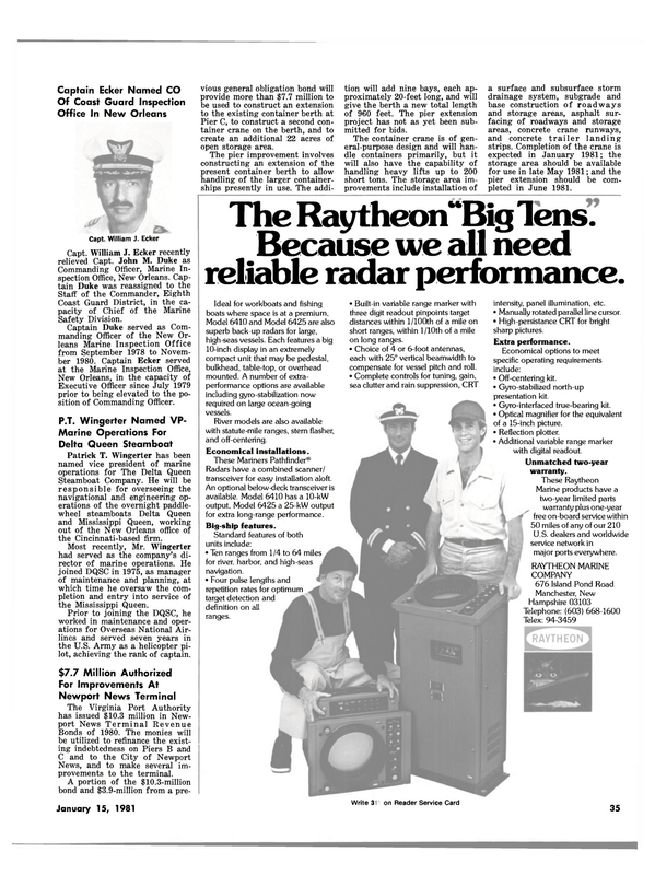 Maritime Reporter Magazine, page 33,  Jan 15, 1981 Sangean Table Top Portable Audio Device