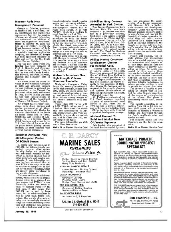 Maritime Reporter Magazine, page 43,  Jan 15, 1981 Oklahoma