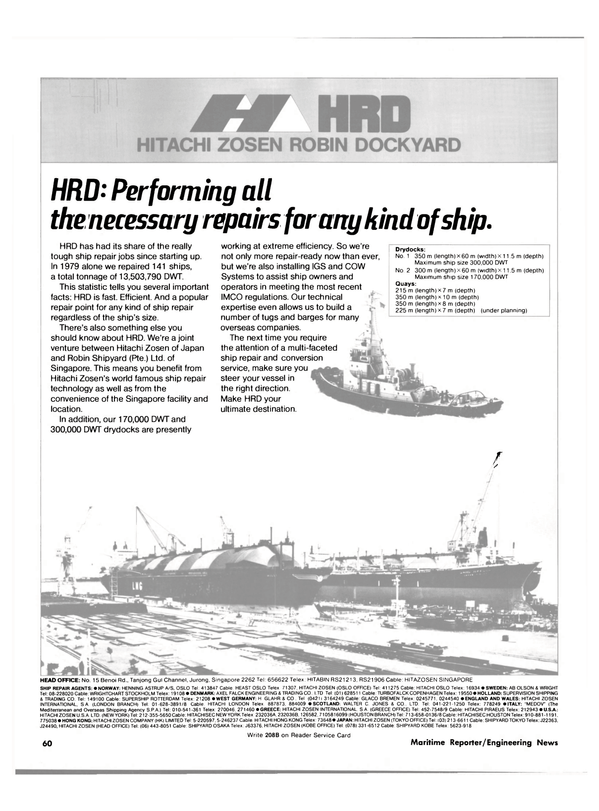 Maritime Reporter Magazine, page 58,  Jan 15, 1981 GREECE OFFICE