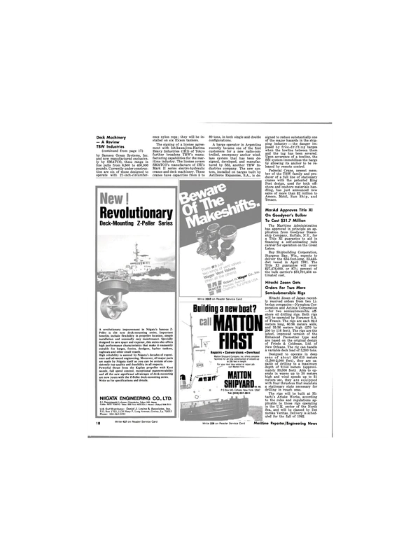 Maritime Reporter Magazine, page 16,  Feb 1981 Great Lakes