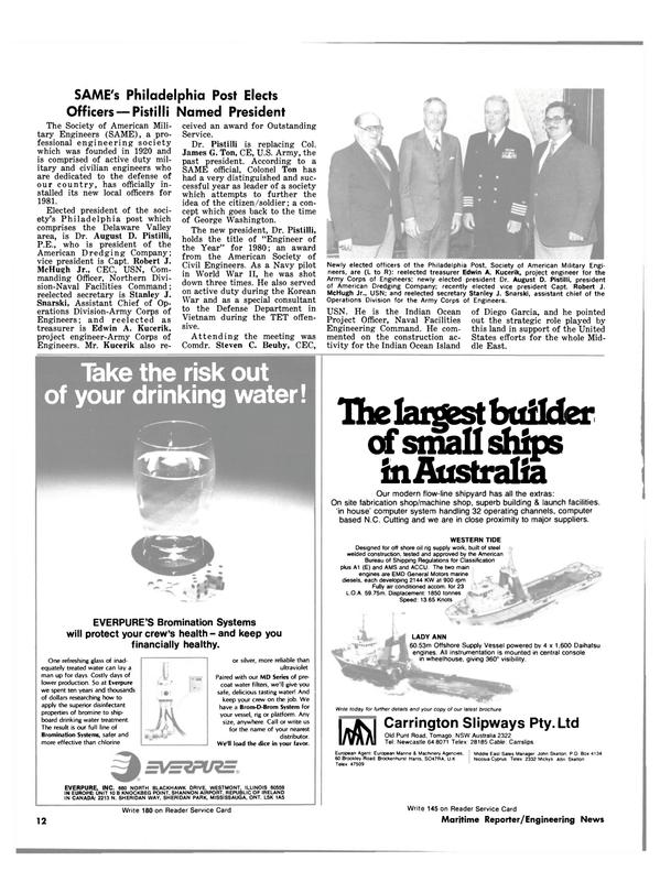 Maritime Reporter Magazine, page 10,  Feb 15, 1981