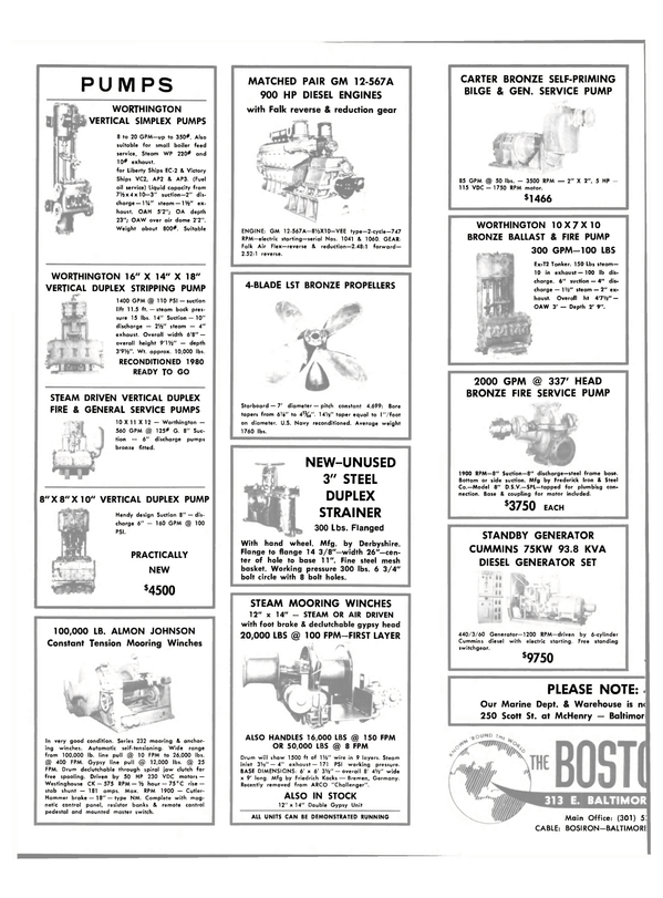 Maritime Reporter Magazine, page 28,  Feb 15, 1981