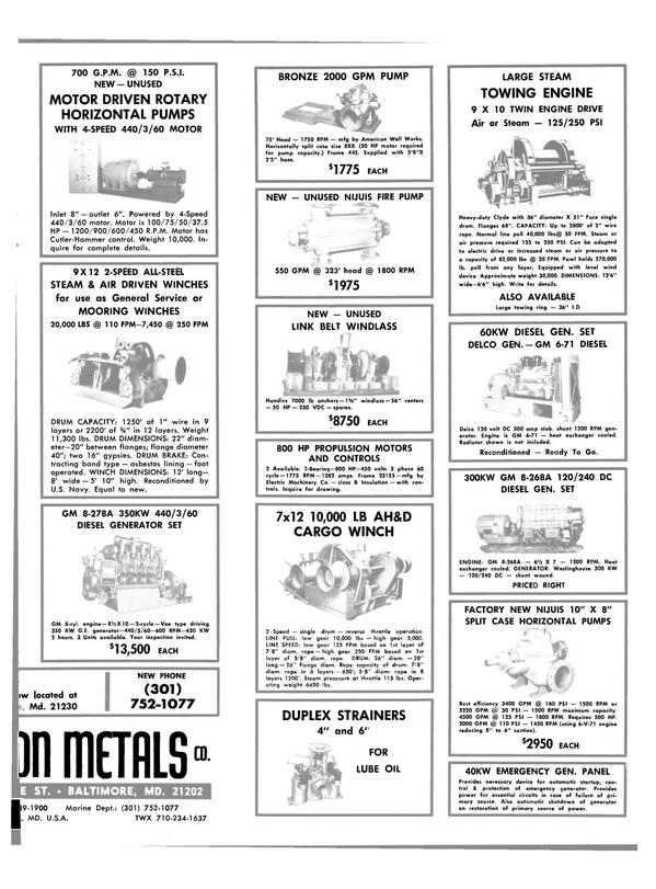 Maritime Reporter Magazine, page 29,  Feb 15, 1981
