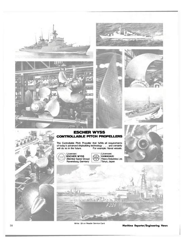 Maritime Reporter Magazine, page 36,  Feb 15, 1981