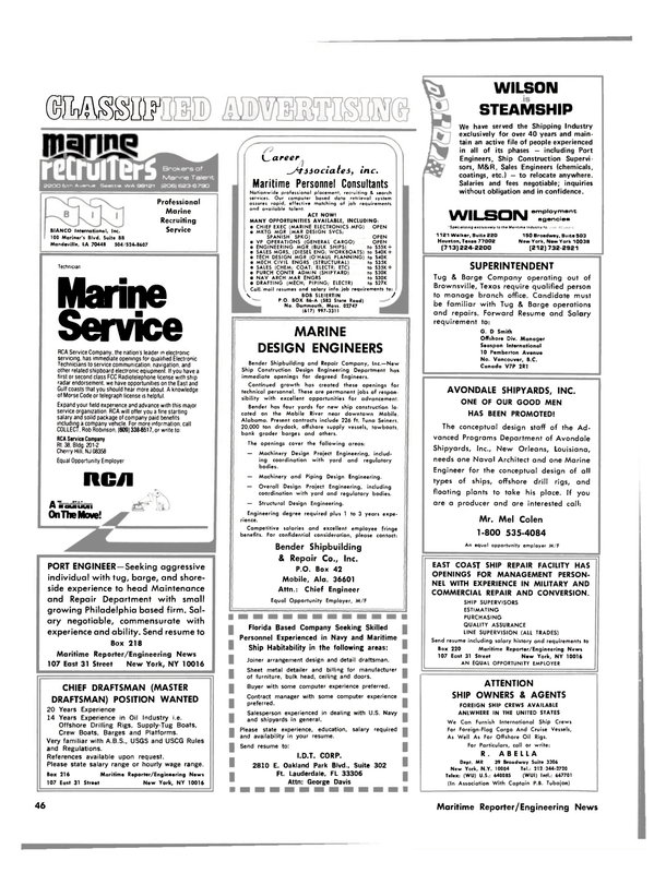 Maritime Reporter Magazine, page 44,  Feb 15, 1981 New Jersey