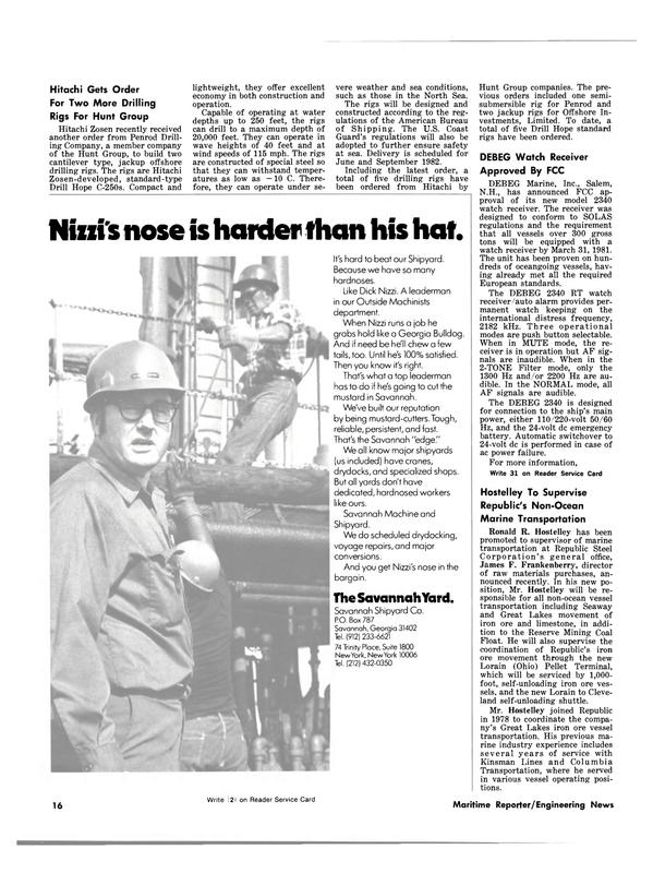 Maritime Reporter Magazine, page 14,  Mar 15, 1981 Ohio