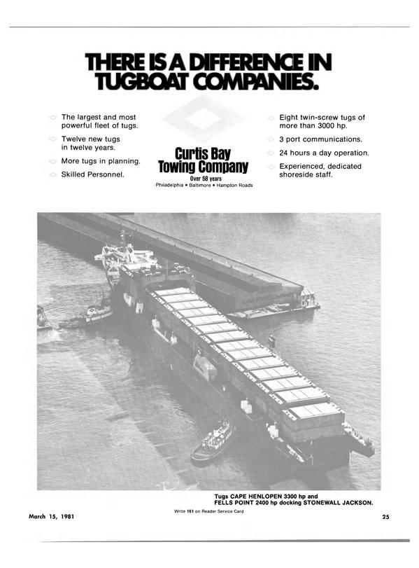 Maritime Reporter Magazine, page 23,  Mar 15, 1981 Cape Henlopen