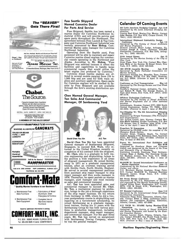 Maritime Reporter Magazine, page 44,  Mar 15, 1981 Ontario