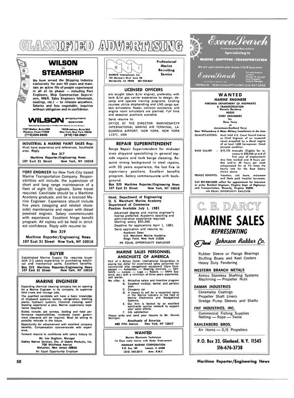 Maritime Reporter Magazine, page 48,  Mar 15, 1981 Virginia