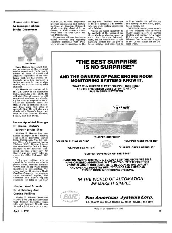 Maritime Reporter Magazine, page 23,  Apr 1981