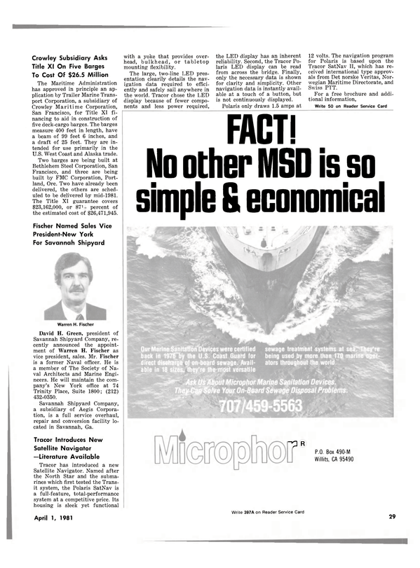 Maritime Reporter Magazine, page 27,  Apr 1981 California