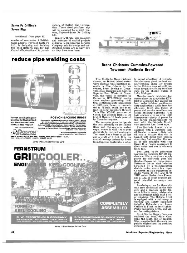 Maritime Reporter Magazine, page 40,  Apr 1981 Lea Brent