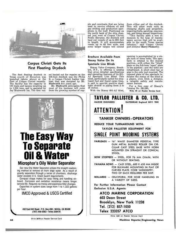 Maritime Reporter Magazine, page 42,  Apr 1981
