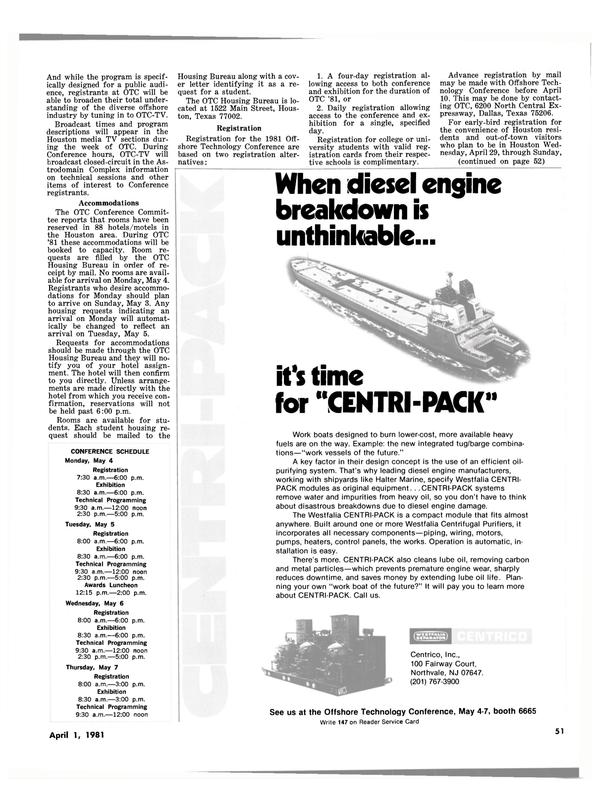 Maritime Reporter Magazine, page 49,  Apr 1981