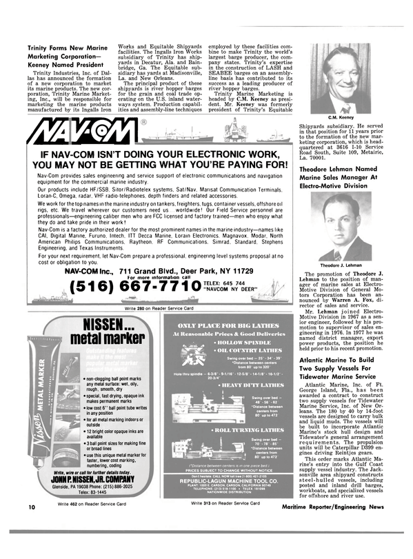 Maritime Reporter Magazine, page 8,  Apr 15, 1981