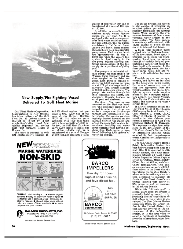Maritime Reporter Magazine, page 18,  Apr 15, 1981 calcium chloride