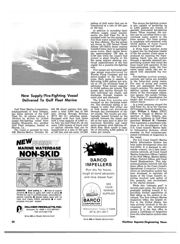 Maritime Reporter Magazine, page 18,  Apr 15, 1981 calcium chloride
