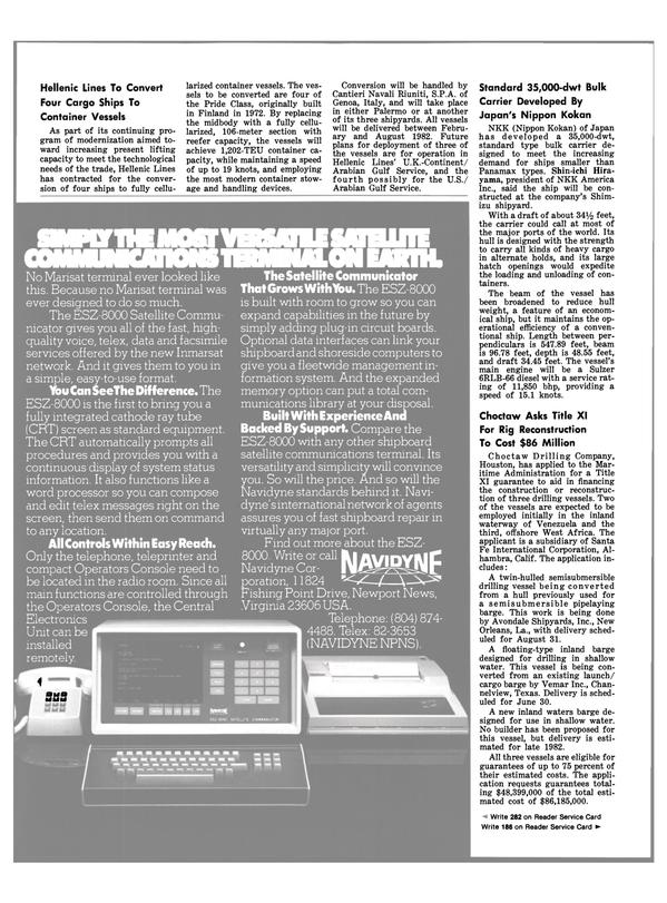 Maritime Reporter Magazine, page 46,  Apr 15, 1981 Virginia