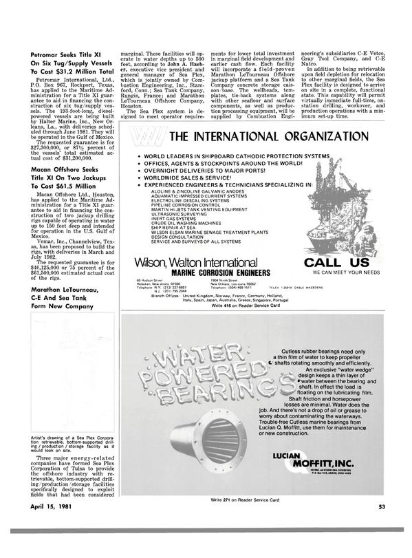 Maritime Reporter Magazine, page 51,  Apr 15, 1981 Connecticut