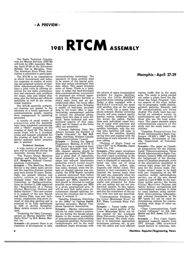 Maritime Reporter Magazine, page 4,  Apr 15, 1981 Louisiana