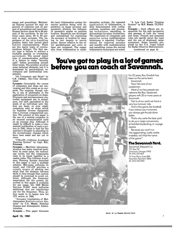 Maritime Reporter Magazine, page 5,  Apr 15, 1981
