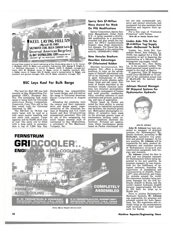 Maritime Reporter Magazine, page 8,  May 1981 Connecticut