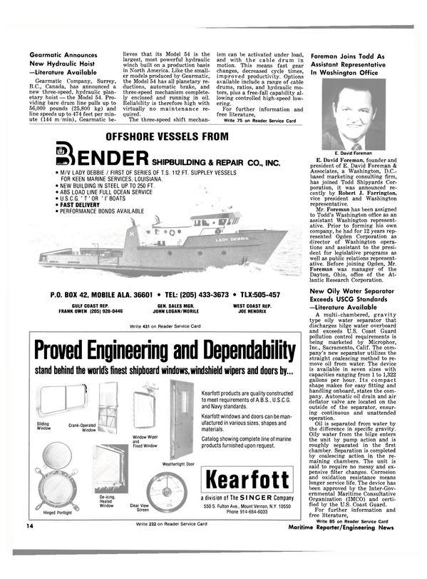 Maritime Reporter Magazine, page 12,  May 1981 California