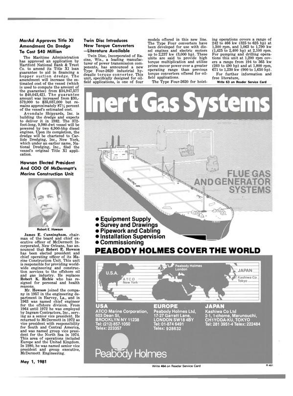 Maritime Reporter Magazine, page 13,  May 1981 USA EUROPE